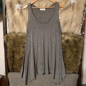 Nectar Clothing Grey Sleeveless Tent Dress